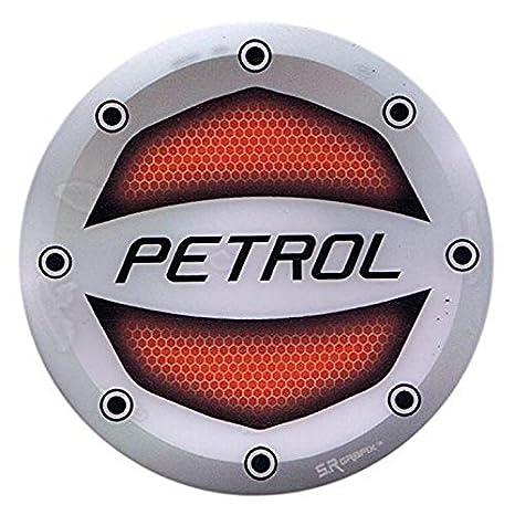 Kalaram Reflective Red Petrol Inside Decal Car Fuel Cap Sticker For