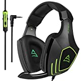 [2017 SUPSOO Newly Multi-Platform Over Ear Xbox One PS4 Stereo Gaming Headset ] SUPSOO G820 Bass Gaming Headsets with Noise Isolation Microphone For New Xbox one PS4 PC Laptop Mac iPad iPod (Black&Green)