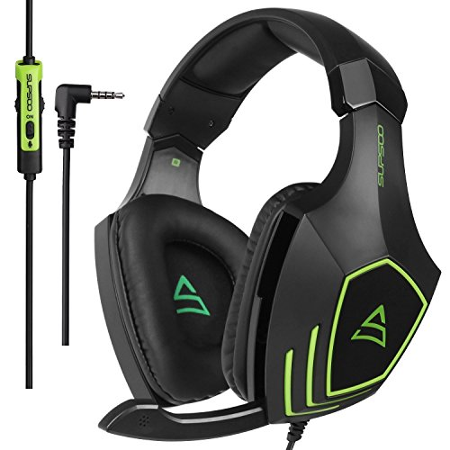 Price comparison product image SUPOO G820 Multi-platform Stereo Professional Gaming Headset Over Ear Headphones with Microphone Volume-Control for PC / PS3 / PS4 / Xbox One / Xbox 360 / Phone / Mac / Laptop / Tablets