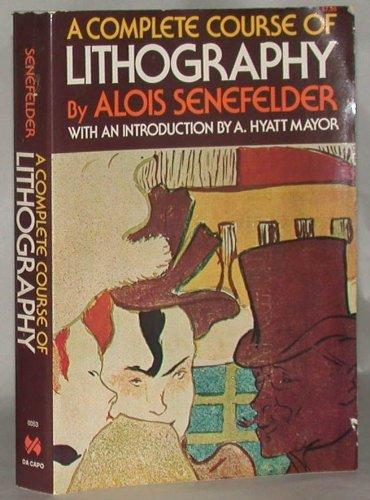 Senefelder Lithogra (A Da Capo paperback)