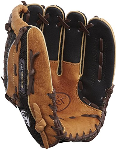 Louisville Slugger 11.5-Inch FG Genesis Baseball Infielders Glove, Brown, Right Hand Throw - Infielders Glove