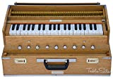 MAHARAJA Folding Harmonium 9 Stopper - Safri - 3½ Octave - With Coupler, Comes with Book & Bag - Tuned to A440 (PDI-AHH)