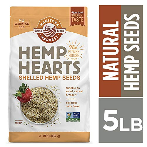 Manitoba Harvest Hemp Hearts Raw Shelled Hemp Seeds, 5lb; with 10g Protein & 12g Omegas per Serving, Non-GMO, Gluten Free (Sliced Lunch Meats)