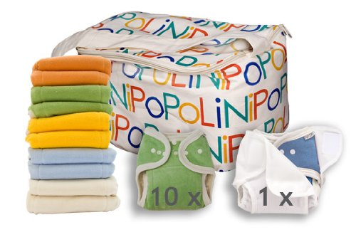 Popolini One Size Rainbow Soft Set Bunt sortiert kba Komplettset Stoffwindeln 3-15kg NEU /& Original
