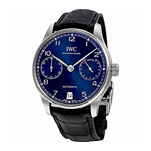 51IJK6v095L. SS300  - IWC Portugieser Chronograph Automatic Blue Dial Mens Watch IW500710