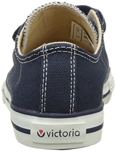 Victoria Zapato Basket Velcros - Botas Unisex Niños Azul (Marino)