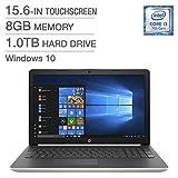 """HP 15-da0093CA Laptop, i3-7020U 15.6"""" Touchscreen 8GB 1TB"""