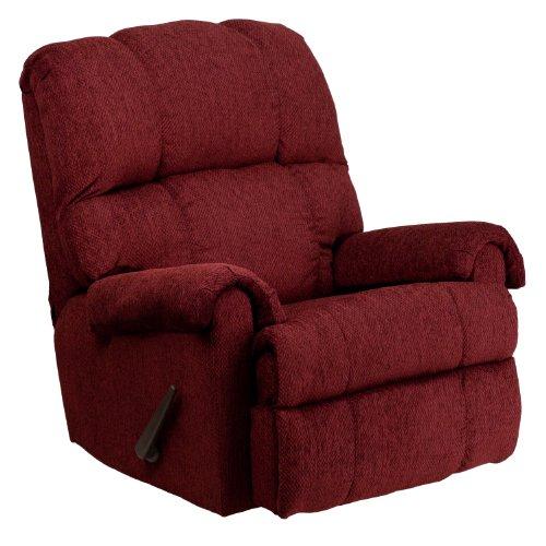 Flash Furniture Contemporary Tahoe Burgundy Chenille Rocker Recliner Burgundy Recliner