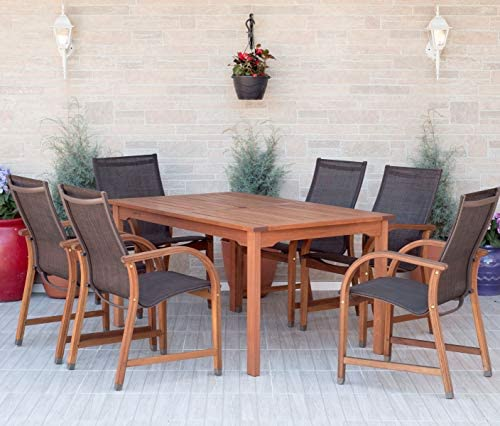Amazonia 7-Piece Eucalyptus Rectangular Dining Set