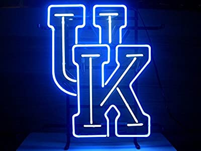 "New University of Kentucky Wildcats Neon Light Sign Home Beer Bar Pub Recreation Room Game Room Windows Garage Wall Sign 17w""x 14""h"