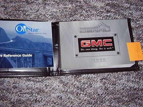 amazon com 2000 gmc yukon owners manual gmc motors books rh amazon com 2000 gmc sierra owners manual 2000 gmc yukon owner's manual