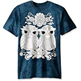 The Mountain Men's Colorwear Night Owls 5 Adult Coloring T-Shirt, Teal, Medium