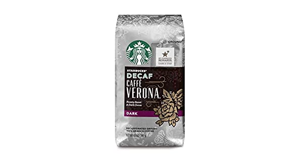 Amazon.com: Starbucks Decaf Caffè Verona Dark Roast Ground ...