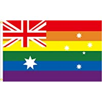Cekell Australian Gay Pride Rainbow Flags, Large Outdoor LGBTQ Flags with Grommets,Lesbian Pride Flags 3 X 5 Feet