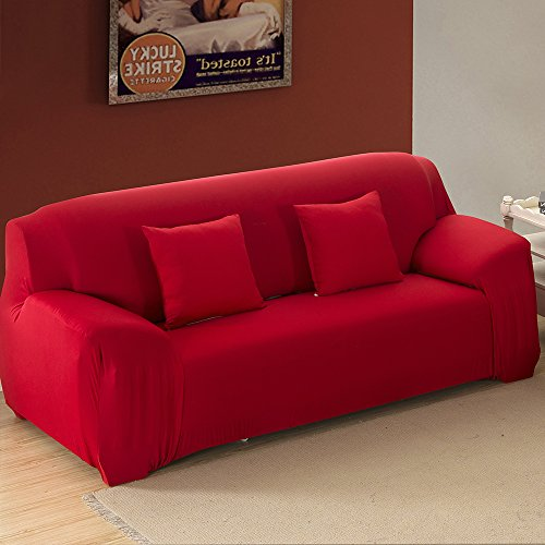 Stretch Loveseat Cover 2 Seater Fabric Slipcover Protecto...