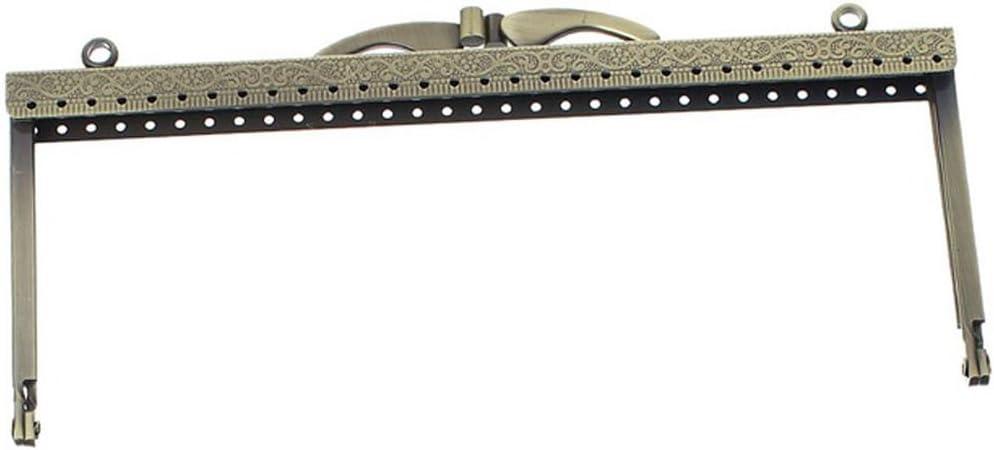 TOOGOO Metal Frame Kiss Clasp Arch For Purse Bag Bronze 19cm x 8.5cm R