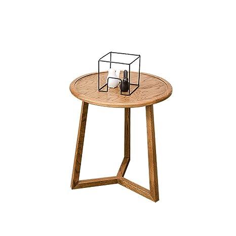 Amazon.com: ZHFHA Mesa auxiliar redonda, moderna, ligera ...
