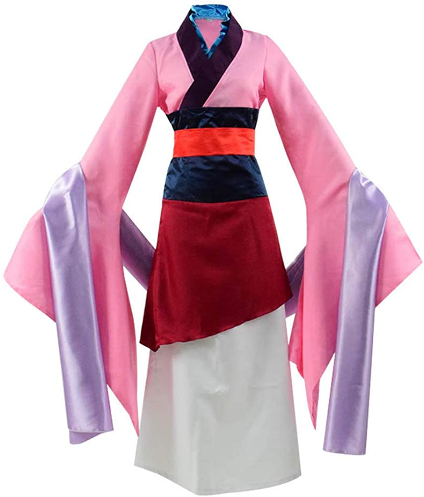 Amazon Com Beauty Costume Chinese Heroine Hua Mulan Dress Halloween Outfit Clothing