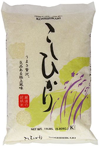 Shirakiku Rice, Koshihikari, 15 - Grain Short Premium Rice Super