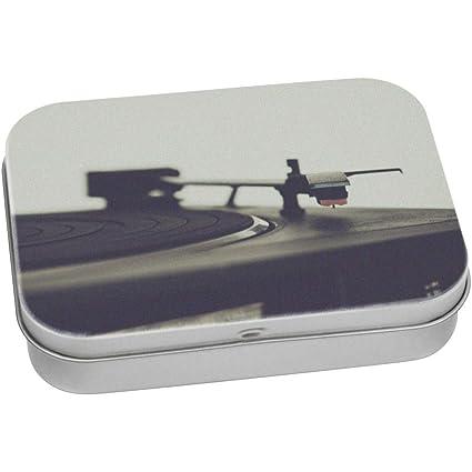 Stamp Press 110mm x 80mm Tocadiscos Caja de Almacenamiento ...