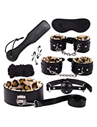 SOFT-L Straps for Under Bed Restraints Bondage Play Fetish Fur Game Tie up Handcuffs Mattress Harness Things Blindfold Whips Kit Couples Women Men BH006