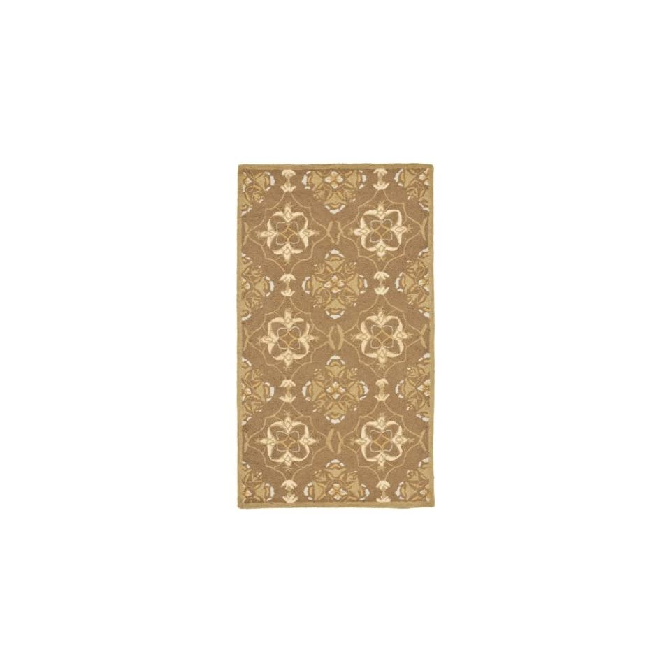 Safavieh Chelsea Collection HK376C Hand Hooked Brown and Green Premium Wool Area Rug (18 x 26)