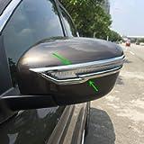 ZiWwen 2pcs Chrome Styling Door Rearview Mirror Singal Trim for Nissan Rogue Murano Rogue Sport Pathfinder