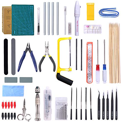 - Swpeet 57Pcs Modeler Basic Tools Craft Set Hobby Building Tools Kit for Gundam Car Model Building