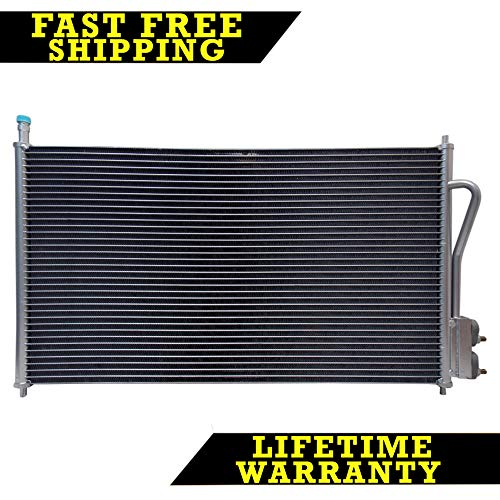 (AC A/C CONDENSER FOR FORD FITS FOCUS 2.0 2.3 L4 4CYL 3391)