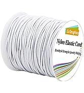 EuTengHao 1.5mm Nylon Elastic Cord String for Bracelet White Satin Nylon Stretch Cord Nylon Hand ...