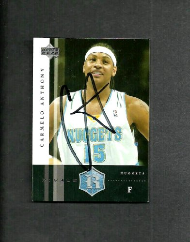 Carmelo Anthony Denver Nuggets Autographed Signed 2004 Up...