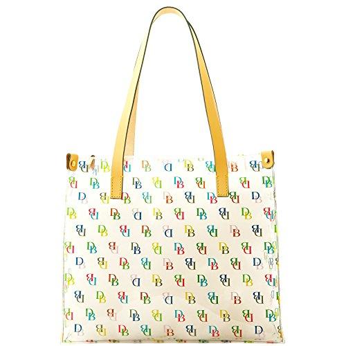 New Dooney & Bourke DB Logo Clear Tote Hand Bag Purse IT Medium Shopper Multi (Dooney Bourke Clear Purses)