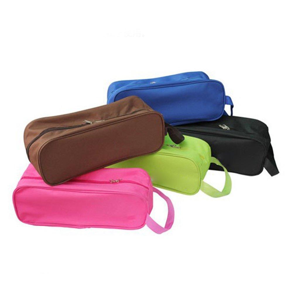 Phoenixb2c Portable Waterproof Zipper Oxford Cloth Travel Shoe Bags Shoe Storage Dust Bag Travel Accessories
