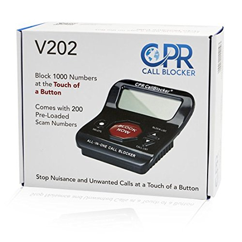 CPR V202 Call Blocker - Block All Robocalls, Political Calls, Scam Calls, Telemarketing Calls, Unwanted Calls On Landline Phones. Block All Nuisance Calls At The Touch Of A Button Using Caller Id by CPR Call Blocker (Image #2)