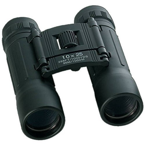 New Compact Black 10x25 Binoculars Storage Case Neck Strap H