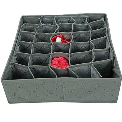 30 compartimentos Ropa interior Calcetines Corbatas almacenamiento Organizador Caja