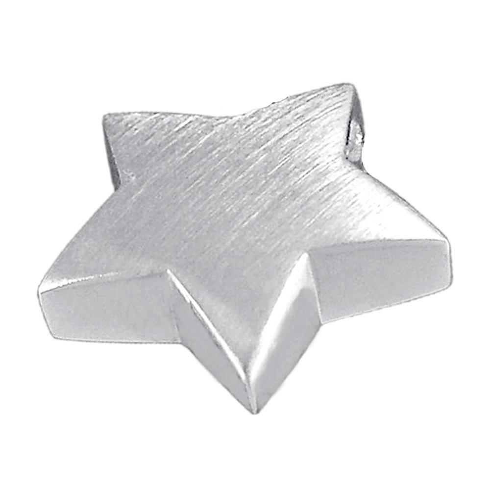 Vinani Anhänger Stern klein schlicht mattiert Sterling Silber 925 AMS-EZ