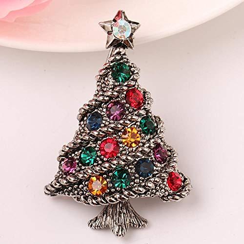 Weihnachten brosche Pin B Retro Anzug Weihnachtsbaum Diamond ...