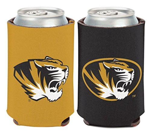 WinCraft NCAA University Missouri Tigers 1 Pack 12 oz. 2-Sided Can Cooler