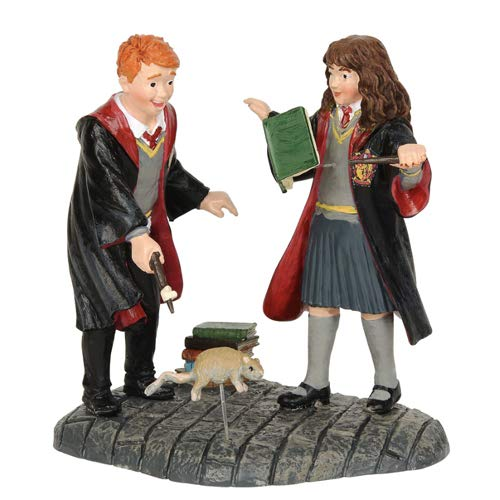 Wingardium Leviosa Ron and Hermione 3 inch Resin Stone Collectible Figurine by Enesco