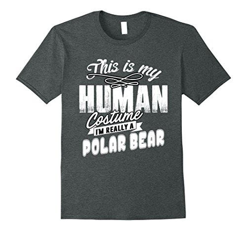 Mens I'm Really a Polar Bear Halloween Costume T Shirt Small Dark Heather - Polar Bear Costume Diy