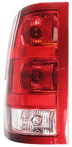 2500 Tail Light Lh Driver - Taillight Taillamp LH Left Driver Side for 07-13 Sierra Pickup Truck Fleetside