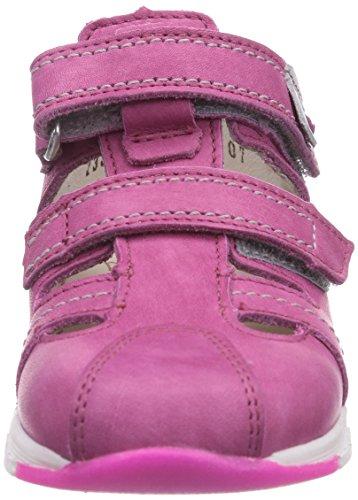 Däumling Eddie - zapatillas de running de cuero bebé rosa - Pink (Fortuna ciclamino06)