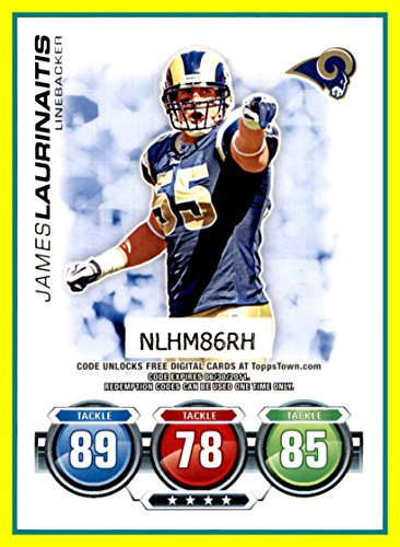 2010 Topps Attax Code Cards #23 James Laurinaitis OHIO STATE BUCKEYES ST. LOUIS RAMS ()