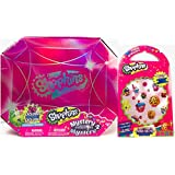 Shopkins 2 PC Gift Bundle Season Includes Shopkins Mystery Edition # 2 with 24 Exclusive Shopkins, 1 Fun Sticker Pack ( 100 + Stickers) - Ideal Shoppies Collection for All Seasons Supermarket Shopping Fans