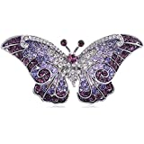 Empress Monarch Color Winged Butterfly Swarovski Crystal Rhinestone Pin Brooch
