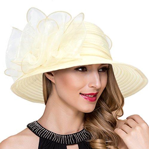 Lady Church Derby Dress Cloche Hat Fascinator Floral Tea Party Wedding  Bucket Hat S051 9f24c7eb8771
