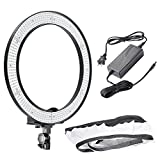Neewer® 5500K 40W 600 LED Camera Video Ring Light with Battery Slot and Carrying Bag for Portrait Photography Continuous Lighting Shoot