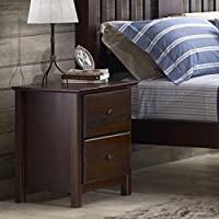 Grain Wood Furniture Shaker 2-drawer Cherry Solid Wood Nightstand Includes our Exclusive Decorating eBook