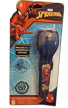 Proyector de luz nocturna de Marvel Spiderman azul con 2 ...